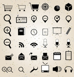 web design icons set vector image