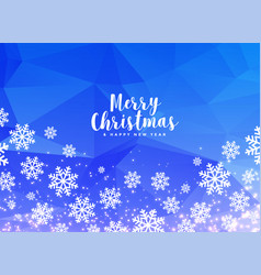 white winter christmas snowflakes on blue vector image