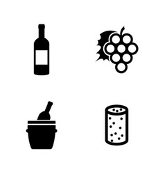 Wine making simple related icons vector