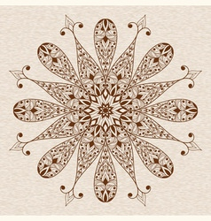 Abstract ethnic floral design element vector