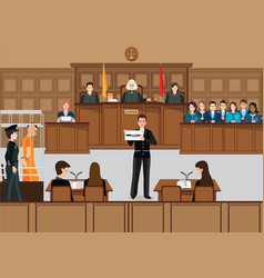 isometric people judicial system set vector image vector image
