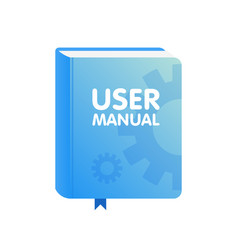 user manual book download icon flat vector image
