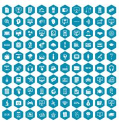 100 website icons sapphirine violet vector image vector image