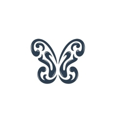 Butterfly logo on white background - stock vector image