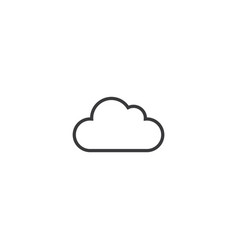 cloud icon line style vector image vector image