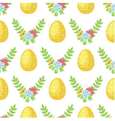 easter cartoon seamless pattern background vector image vector image