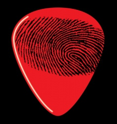 guitar pick fingerprint vector image vector image