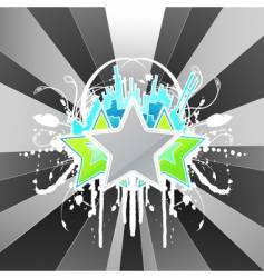 modern floral splatter urban celebration vector image vector image