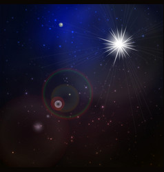 abstract space background with stars vector image vector image