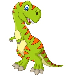Cartoon happy dinosaur vector image vector image