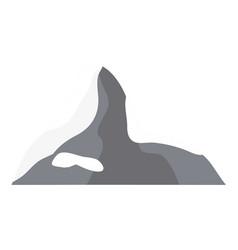 swiss alps icon vector image vector image
