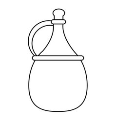 Wine carafe cork thin line vector