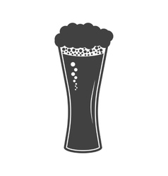 beer in glass icon on white vector image vector image