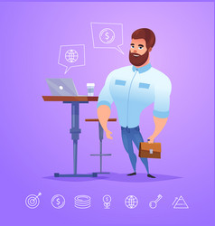business man character isolated vector image vector image