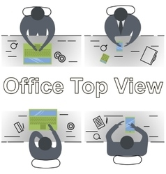 concept of office workplace vector image vector image