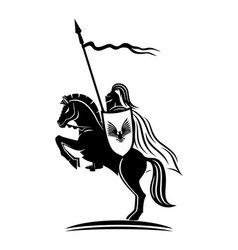 Knight with a spear vector