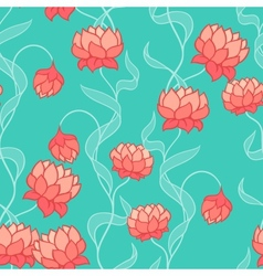 Seamless pattern with abstract flowers vector image vector image