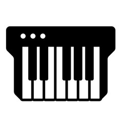 synthesizer icon simple black style vector image