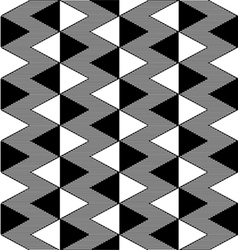 Triangle black and white seamless pattern vector image