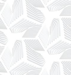 3D white striped sea stars vector