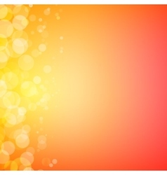 Abstract bokeh sparkles on sunny blurred vector image