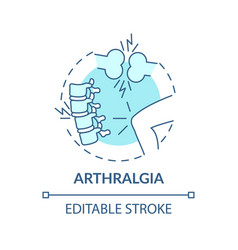 Arthralgia concept icon vector