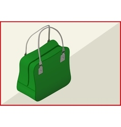 bag isometric flat 3d vector image