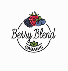 berry blend logo round linear logo blend vector image
