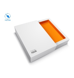 blank box on white background vector image vector image