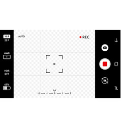 Blank smart phone camera focusing screen vector