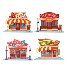 Cafe restaurant ice-cream shop and bakery vector