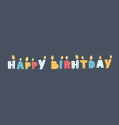 Candles happy birthday vector