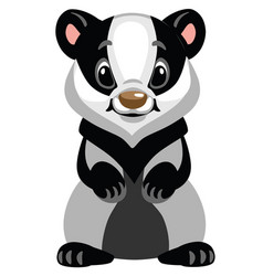 Cartoon badger vector