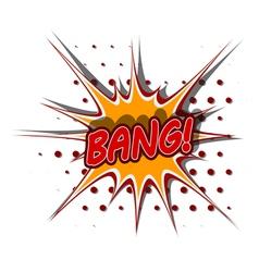 Cartoon of bang vector