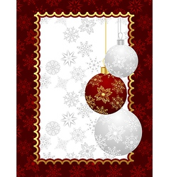 Christmas background with set balls vector