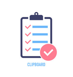 Clipboard with checklist icon clipboard with vector