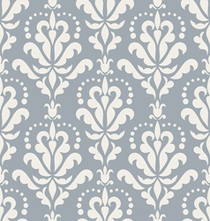 Damask beautiful blue background vector image