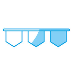 decorative pennants icon vector image