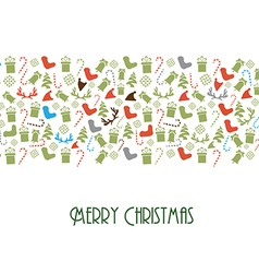 Design With Christmas Toys and Elements vector image