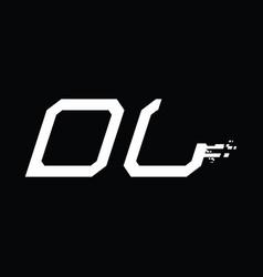 Dl logo monogram abstract speed technology design vector