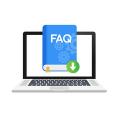 Download faq book icon with question mark book vector