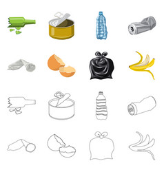 Dump and sort icon set of vector