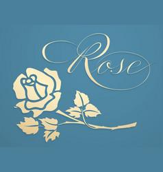 Elegant golden rose graphic element vector