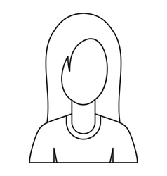 Female avatar profile picture icon outline style vector