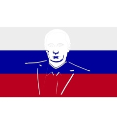 Flag of Russia and President vector