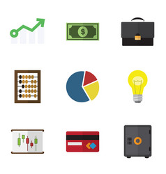 Flat icon incoming set of portfolio payment vector