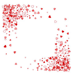 Frame or border of random scatter hearts vector