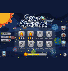 game template with planets in solar system vector image