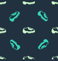 Green and beige baseball boot icon isolated vector