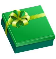 Green square gift box vector